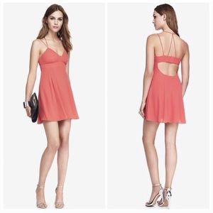 Express Pink Coral Strappy Babydoll Party Dress